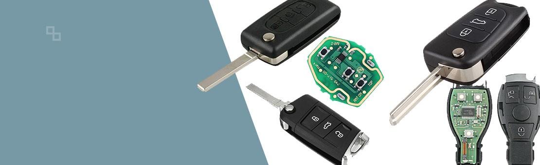 Velký výběr klíčů k vozidlům